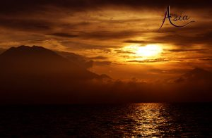 indonesia-yacht-charter-volcano-sunset