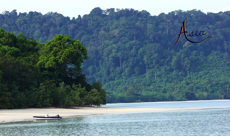 Miles of deserted white tropical beaches, Mergui Archipelago, Myanmar