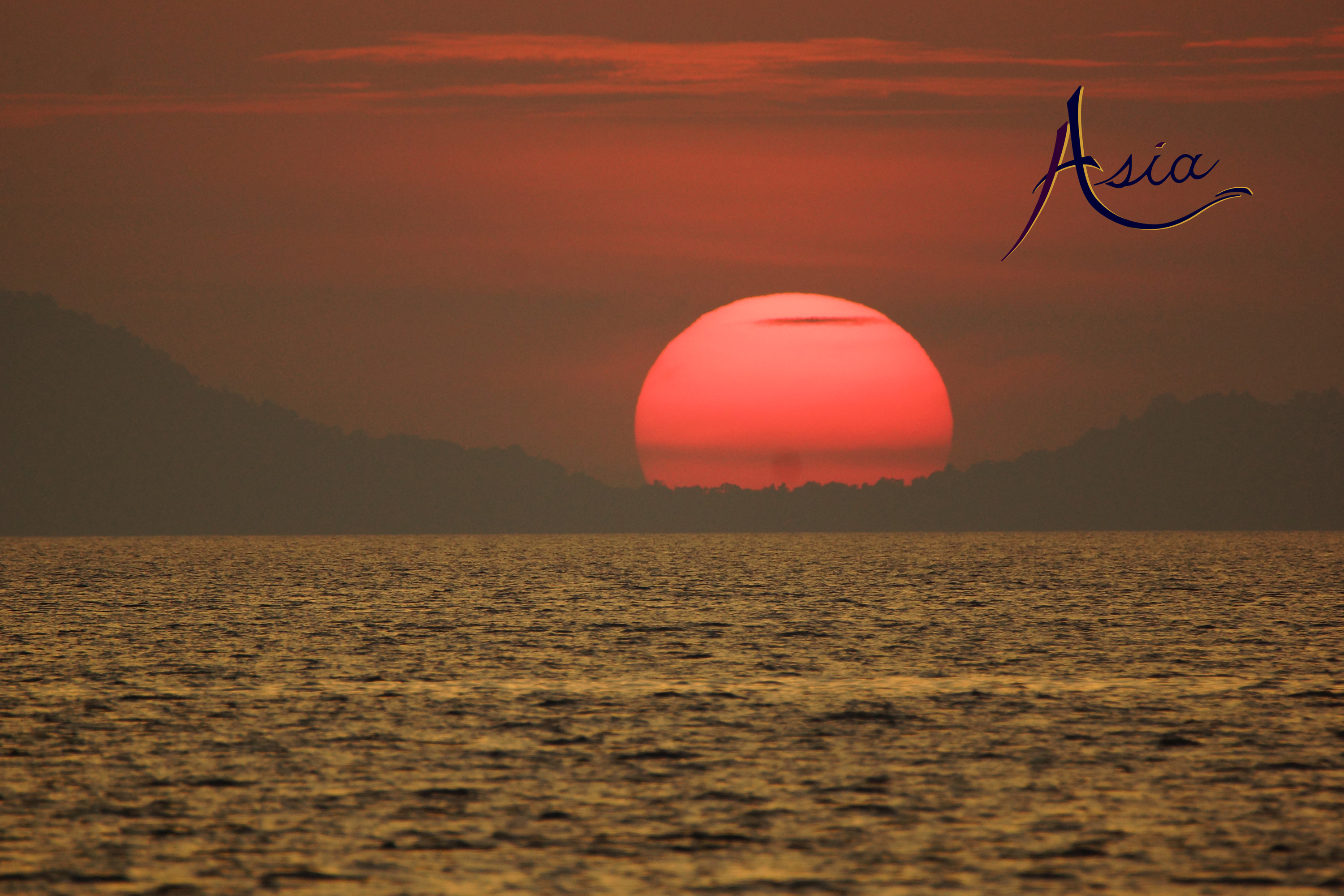 Sunset in Burma's Mergui Archipelago.