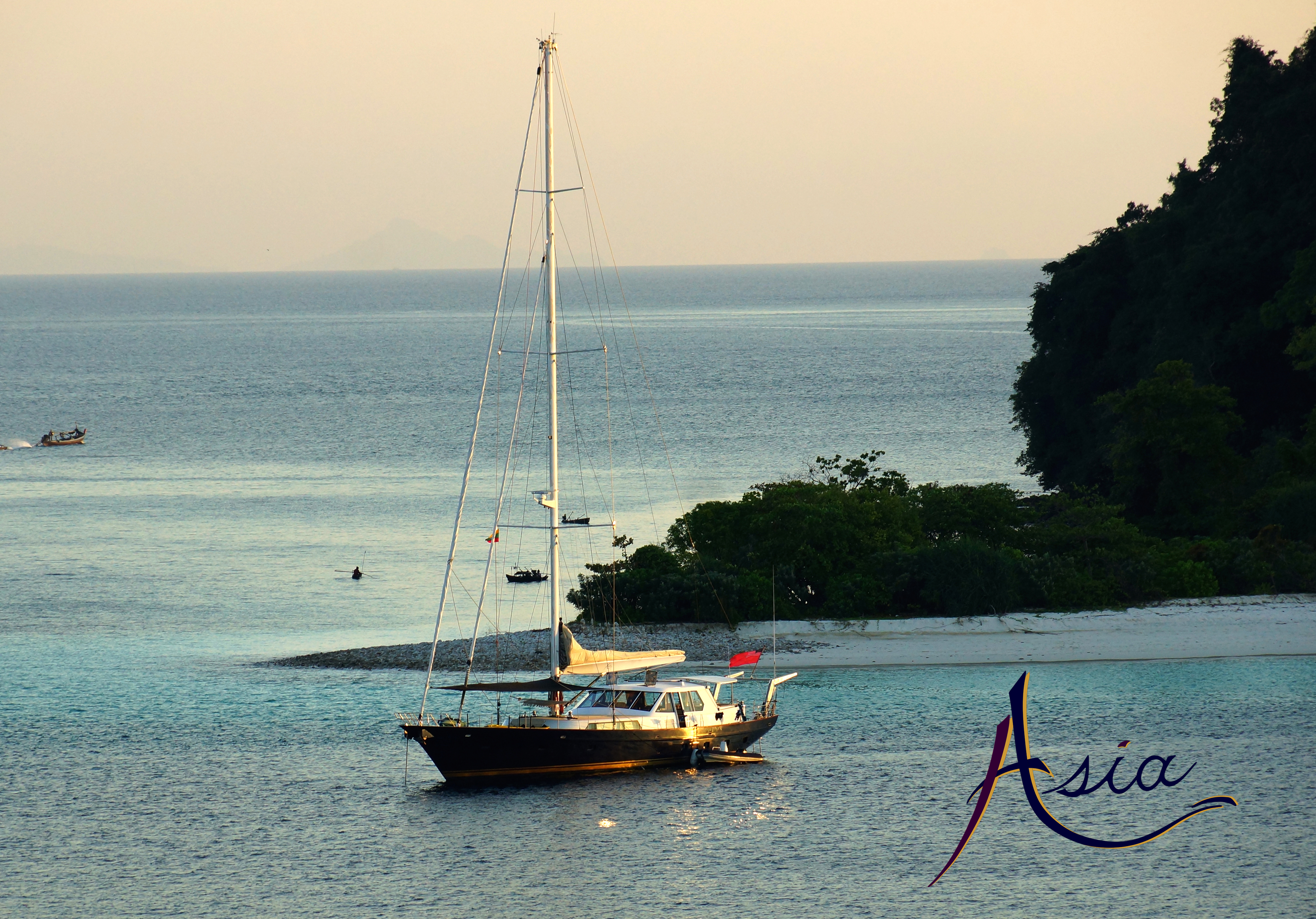 "Magnificent anchorage at ""115"" Island, Mergui Archipelago Burma"