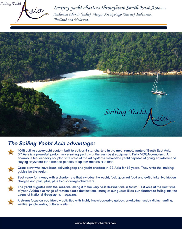 Sailing Yacht Asia Charter Brochure