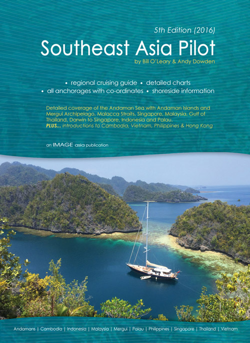 Sailing Yacht ASIA on the front cover of the South East Asia Pilot version 5